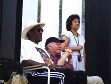 Bill Cosby, George Wein and Darlene Chan
